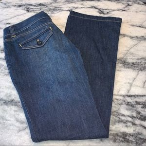 New York & Company 2 Petite flare leg jeans